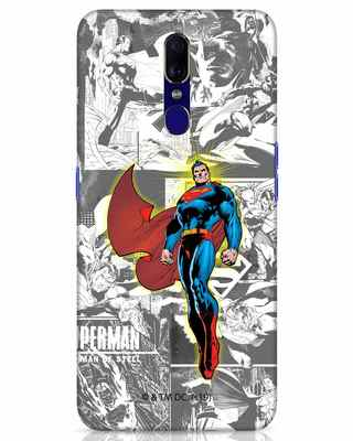 Shop Man Of Steel Panel Oppo F11 Mobile Cover (SL)-Front