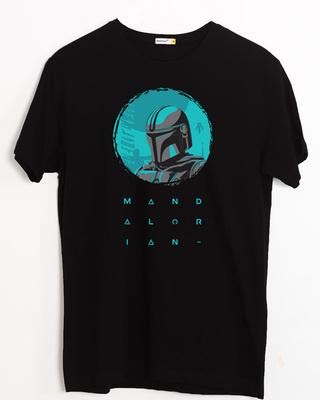 Shop Mandalorian Kin Half Sleeve T-Shirt Black (SWL)-Front