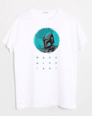 Shop Mandalorian Kin Half Sleeve T-Shirt White (SWL)-Front