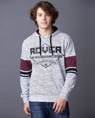 Shop Marca Disati Dimensional Chest Print Hoodie-Front