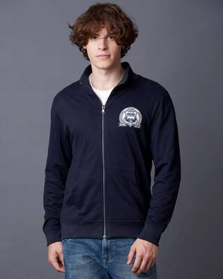 Shop Marca Disati Solid Reversible Jacket-Front