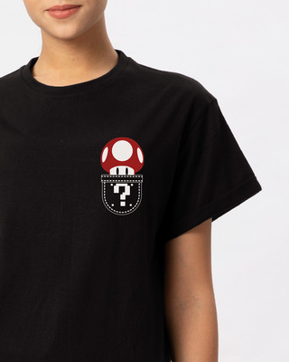 Shop Mario Pocket Boyfriend T-Shirt-Front