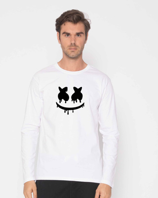 Buy Marshmello Mask Full Sleeve T-Shirt Online India @ Bewakoof.com