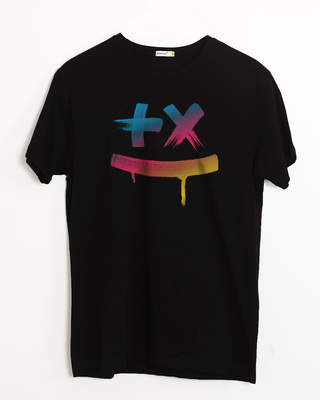 5cbb255a3 white_stub Shop Martin Garrix Colorful Half Sleeve T-Shirt-Front. BEST  SELLER