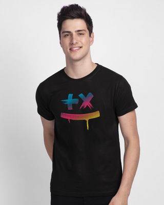 Shop Martin Garrix Colorful Half Sleeve T-Shirt-Front