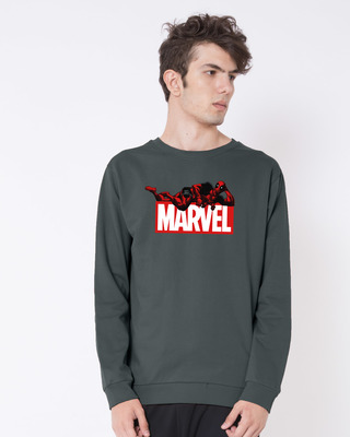 Shop Marvel Deadpool Fleece Sweater (DPL)-Front
