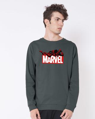 Shop Marvel Deadpool Fleece Sweater (DPL)-Front