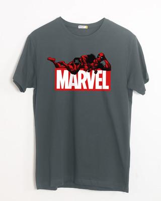 Shop Marvel Deadpool Half Sleeve T-Shirt (DPL)-Front