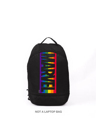 Shop Marvel Logo Colors (AVL) Small Backpack Black-Front