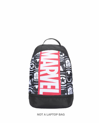 Shop Marvel Logo Comic Printed Small Backpack (AVL)-Front