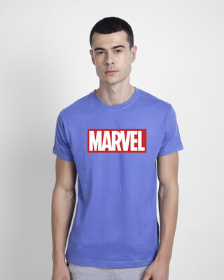 Shop Marvel Logo Ver 2 Half Sleeve T-Shirt (AVL)-Front