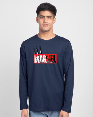 Shop Marvelrine Full Sleeve T-Shirt (XML)-Front