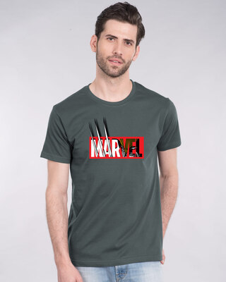 Shop Marvelrine Half Sleeve T-Shirt (XML)-Front