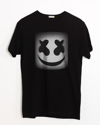 Shop Mask Of Marshmello Half Sleeve T-Shirt-Front