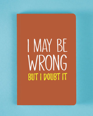 Shop Maybe Wrong Notebook-Front