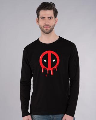 Shop Melting Deadpool Full Sleeve T-Shirt (DPL)-Front