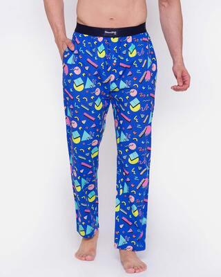 Shop Smugglerz Memphis-Men-Pyjama-Blue-Front