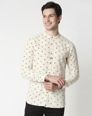 Shop Men Charkha Print Ethnic Shirt-Front
