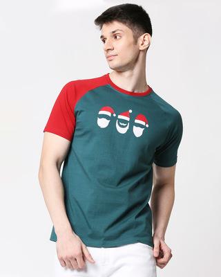 Shop Men Flock Printed Raglan Half Sleeve Atlantic Deep T-shirt-Front