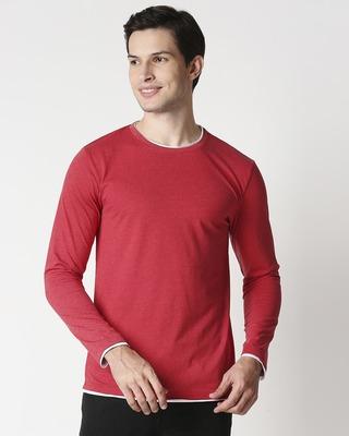 Shop Chili Pepper Melange Raw Edge T-Shirt-Front