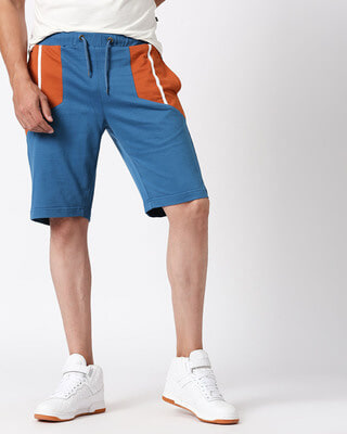 Shop Men's Color Block Pocket Panel Short-Front