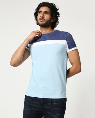 Shop Men's Cut & Sew Melange T-Shirt-Front