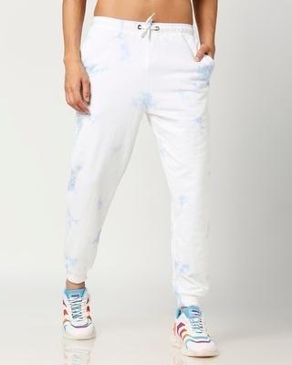 Shop Men's Marble Effect Tye N Dye print Joggers-Front