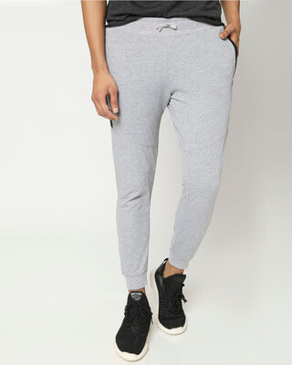 Shop Men's Melange Zipper Joggers-Front