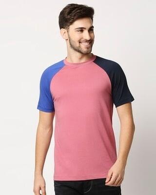 Shop Heather Rose Contrast Sleeve Raglan T-Shirt-Front