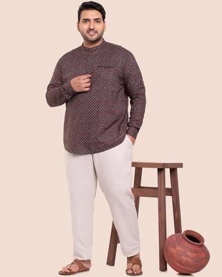 Shop Men's Printed Full Sleeves Plus Shirt-Front
