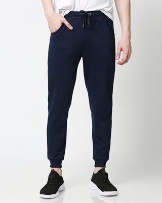 Shop Pageant Blue Basic Jogger Pants-Front