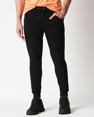 Shop Men's Solid Plain Jogger Pant-Front