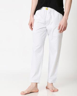 Shop Grey Textured Men's Pyjama-Front