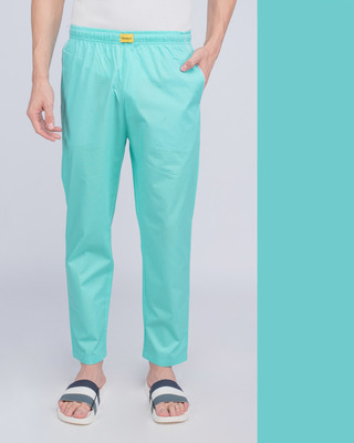 Shop Beach Blue Plain Pyjama-Front