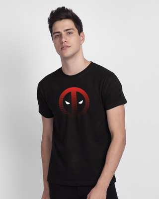 Shop Mesh Deadpool Half Sleeve T-Shirt (DPL)-Front