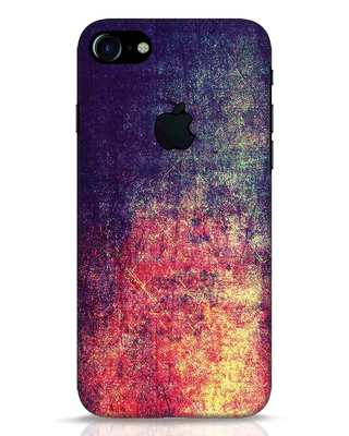 Shop Metal Colors iPhone 7 Logo Cut Mobile Cover-Front