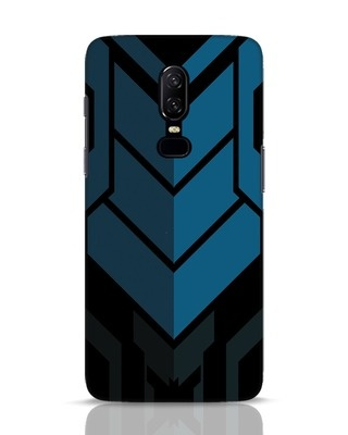 Shop Metal Gear Blue OnePlus 6 Mobile Cover-Front