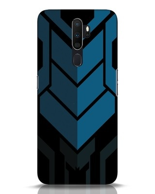Shop Metal Gear Blue Oppo A5 2020 Mobile Cover-Front
