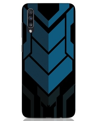 Shop Metal Gear Blue Samsung Galaxy A70 Mobile Cover-Front