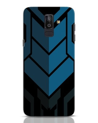 Shop Metal Gear Blue Samsung Galaxy J8 Mobile Cover-Front