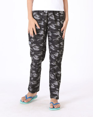 Shop Meteor Grey Camouflage All Over Printed Pyjama-Front