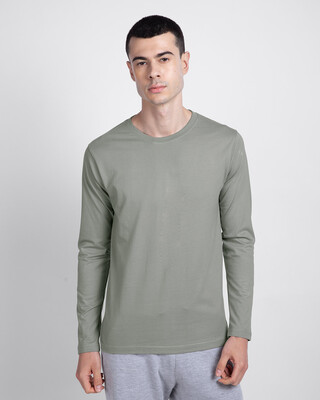 Shop Meteor Grey Full Sleeve T-Shirt-Front