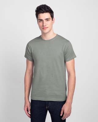 Shop Meteor Grey Half Sleeve T-Shirt-Front