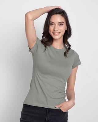Shop Meteor Grey Half Sleeve T-Shirt-Front
