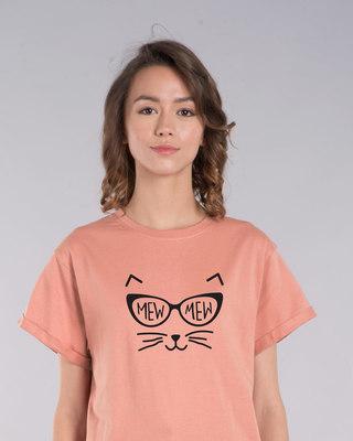 Shop Mew Mew-cat Boyfriend T-Shirt-Front