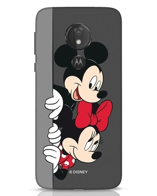 Shop Mickey And Minnie Moto G7 Power Mobile Cover-Front