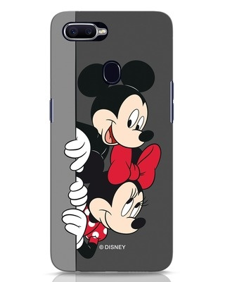 Shop Mickey And Minnie Oppo F9 Pro Mobile Cover-Front