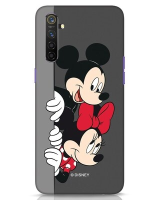 Shop Mickey And Minnie Realme 6 Mobile Cover-Front