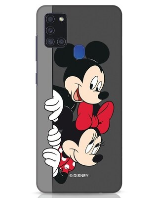 Shop Mickey And Minnie Samsung Galaxy A21s Mobile Cover-Front