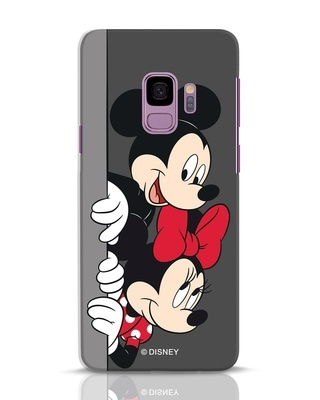 Shop Mickey And Minnie Samsung Galaxy S9 Mobile Cover-Front
